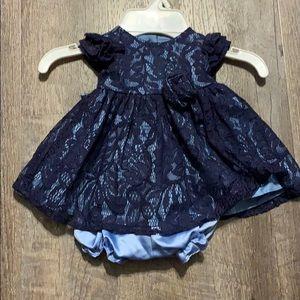 Infant Navy/light blue dress